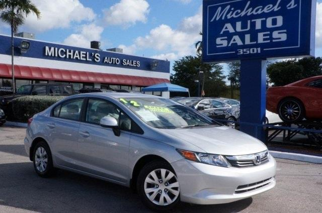 2012 HONDA CIVIC LX 4DR SEDAN 5A alabaster silver metallic perfect color combination call and ask