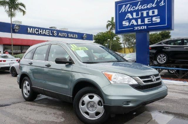 2011 HONDA CR-V LX 4DR SUV glacier blue metallic clean carfax 99 point safety inspection