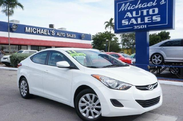 2011 HYUNDAI ELANTRA LIMITED pearl white 99 point safety inspection clean carfax and