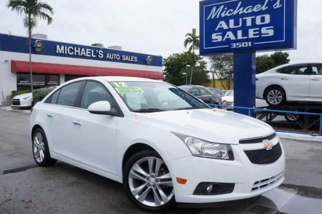 2012 CHEVROLET CRUZE LTZ 4DR SEDAN W1LZ summit white turbo dont let the miles fool you want
