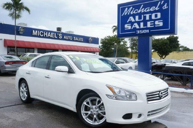 2013 NISSAN MAXIMA 35 SV 4DR SEDAN pearl white 99 point safety inspection clean carfax