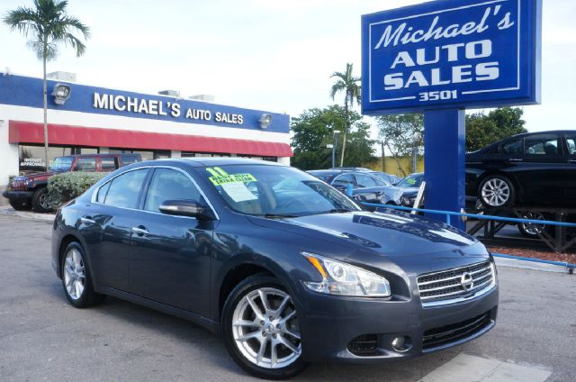 2011 NISSAN MAXIMA 35 S navy blue metallic 99 point safety inspection automatic and c
