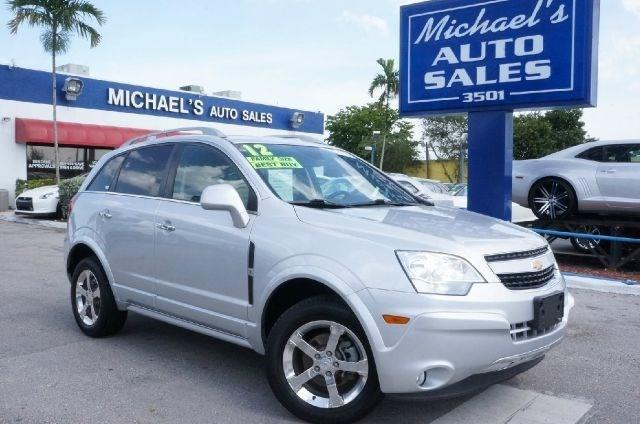 2012 CHEVROLET CAPTIVA SPORT LTZ AWD 4DR SUV silver ice metallic clean carfax 99 point sa