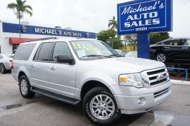 2012 FORD EXPEDITION EL KING RANCH 4X2 4DR SUV white platinum metallic tri-co 99 point safety in