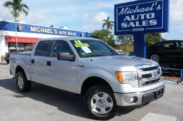 2013 FORD F-150 XLT ingot silver metallic 4wd clean carfax 99 point safety inspection