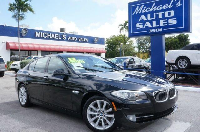 2011 BMW 5 SERIES 528I 4DR SEDAN carbon black metallic 99 point safety inspection clean ca