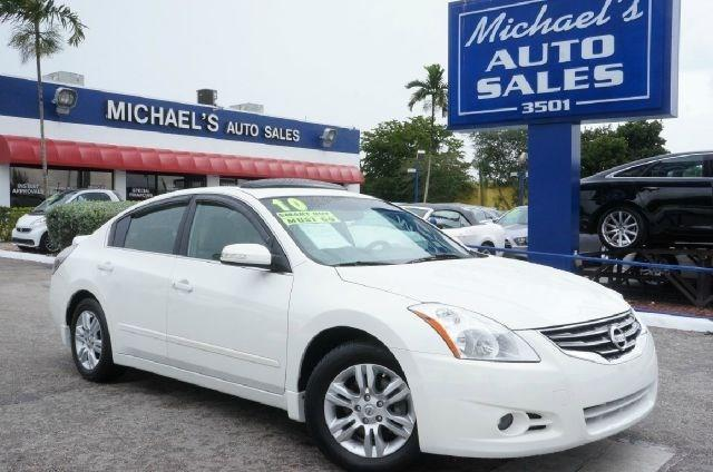 2010 NISSAN ALTIMA 25 S 4DR SEDAN winter frost pearl 99 point safety inspection clean car