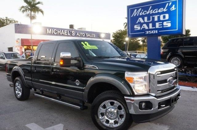 2012 FORD F-250 SUPER DUTY LARIAT forest green 99 point safety inspection clean carfax