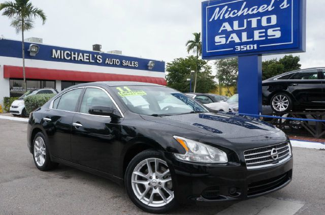 2011 NISSAN MAXIMA 35 S 4DR SEDAN super black 99 point safety inspection clean carfax