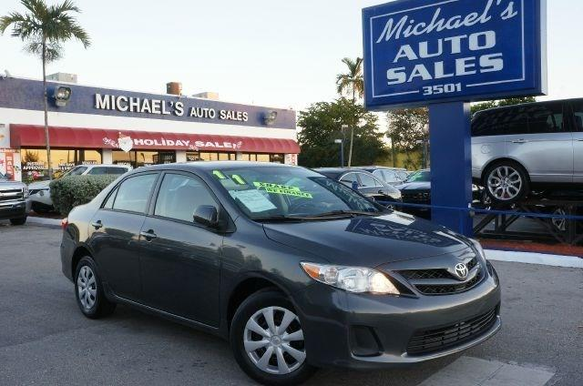 2011 TOYOTA COROLLA LE 4DR SEDAN 4A magnetic gray metallic 99 point safety inspection autom