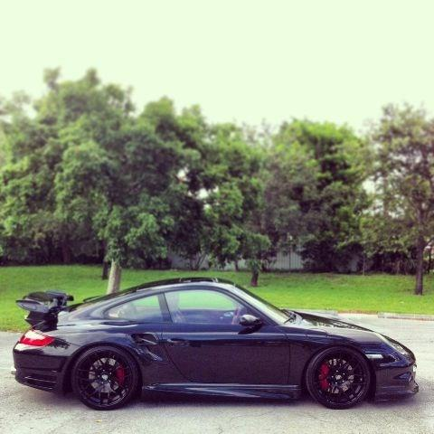 2007 PORSCHE 911 TURBO AWD 2DR COUPE black leather automatic and 1200 whp built prototec