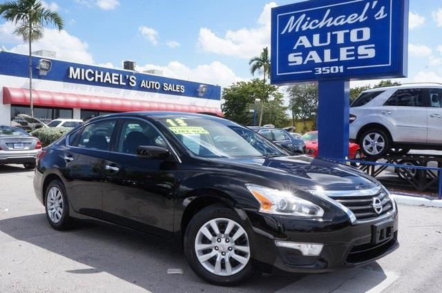 2013 NISSAN ALTIMA 25 S 4DR SEDAN super black automatic clean carfax 99 point safety in