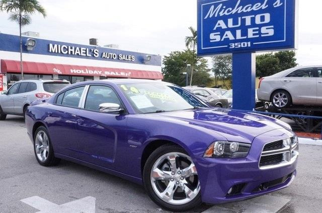 2014 DODGE CHARGER RT 4DR SEDAN plum crazy pearlcoat clean carfax leather navigatio