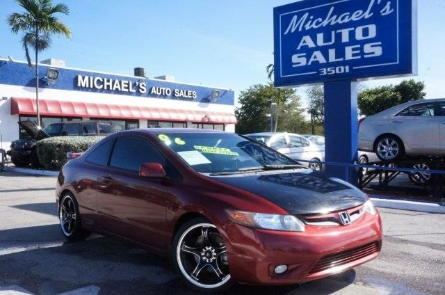 2006 HONDA CIVIC SI 2DR COUPE habanero red pearl stick shift get hooked on michaels auto sales