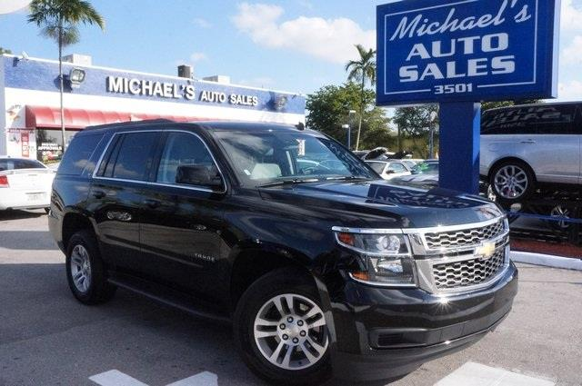 2015 CHEVROLET TAHOE LT 4X2 4DR SUV black 99 point safety inspection clean carfax le