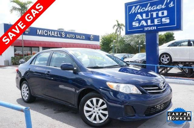 2011 TOYOTA COROLLA LE 4DR SEDAN 4A nautical blue metallic clean carfax 99 point safety i