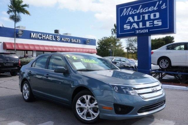 2012 FORD FUSION SE 4DR SEDAN steel blue metallic 6-speed automatic flex fuel get hooked on mich