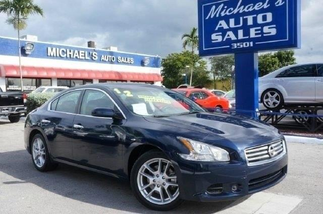 2012 NISSAN MAXIMA 35 S 4DR SEDAN navy blue metallic 99 point safety inspection clean car
