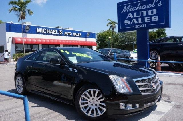 2011 CADILLAC CTS 36L PREMIUM 2DR COUPE black ice metallic repo dont let the miles fool you na