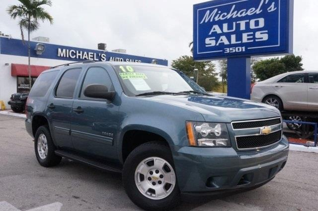 2010 CHEVROLET TAHOE LS 4X4 4DR SUV blue granite metallic 99 point safety inspection local