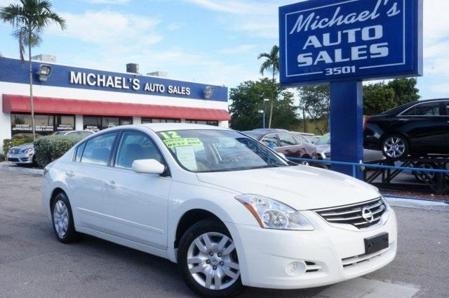 2012 NISSAN ALTIMA 25 S 4DR SEDAN winter frost pearl cvt with xtronic automatic 99 point safet