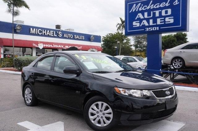 2013 KIA FORTE LX 4DR SEDAN 6A aurora black pearl 99 point safety inspection automatic a