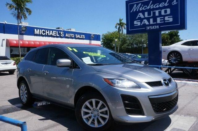 2011 MAZDA CX-7 I SPORT 4DR SUV liquid silver metallic clean carfax 99 point safety inspe