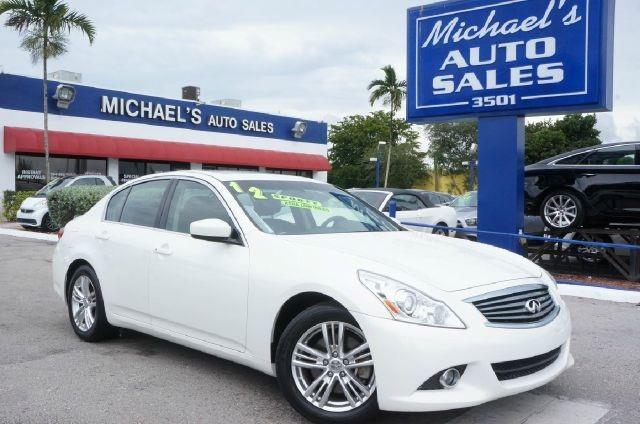 2012 INFINITI G25 SEDAN moonlight white 99 point safety inspection automatic and price