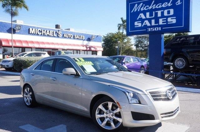 2013 CADILLAC ATS 20T LUXURY 4DR SEDAN summer gold metallic a great deal in hollywood my my my