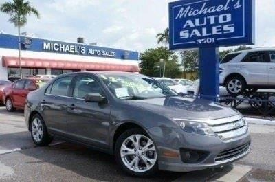 2012 FORD FUSION SE 4DR SEDAN sterling gray metallic 99 point safety inspection clean carf