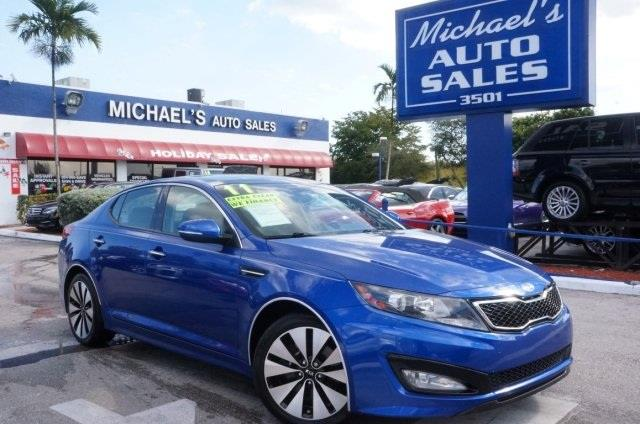 2011 KIA OPTIMA SX TURBO 4DR SEDAN corsa blue panoramic sunroof get hooked on michaels auto sale