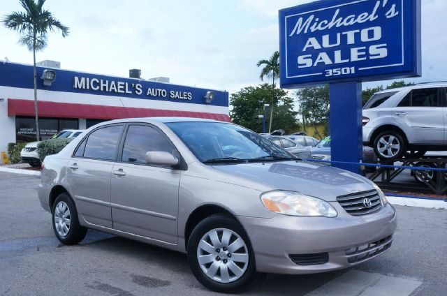 2003 TOYOTA COROLLA CE 4DR SEDAN lunar mist 99 point safety inspection and automatictoy