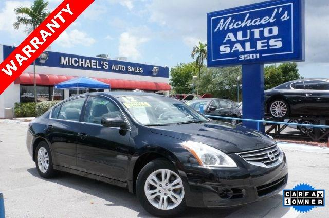 2012 NISSAN ALTIMA 25 S 4DR SEDAN super black clean carfax 99 point safety inspection