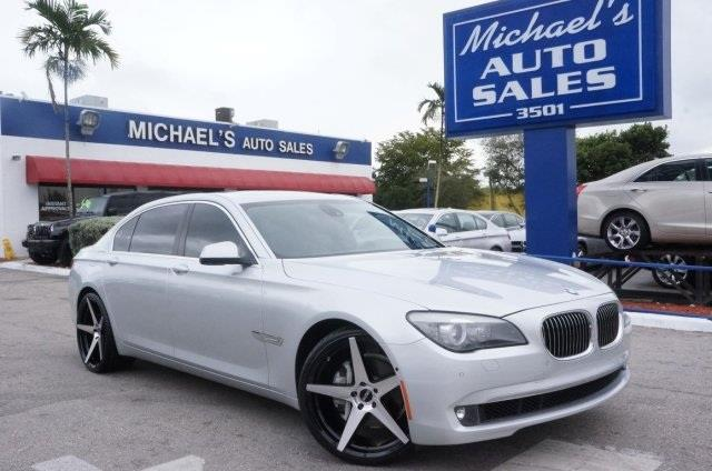 2012 BMW 7 SERIES 740LI 4DR SEDAN titanium silver metallic turbocharged gps nav tired of the s