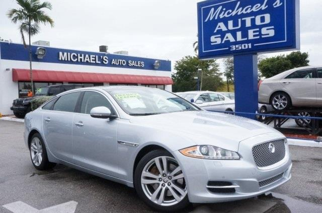 2011 JAGUAR XJL BASE 4DR SEDAN liquid silver 99 point safety inspection clean carfax