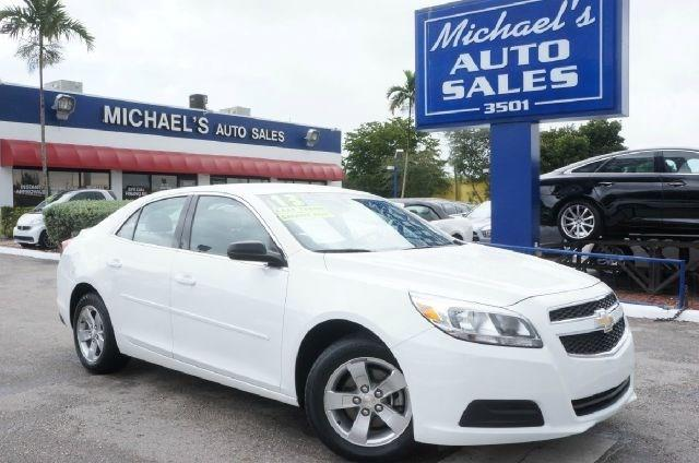 2013 CHEVROLET MALIBU LS FLEET 4DR SEDAN summit white 99 point safety inspection automatic