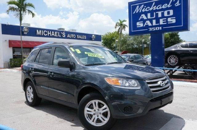 2012 HYUNDAI SANTA FE GLS AWD 4DR SUV pacific blue pearl awd clean carfax 99 point safet