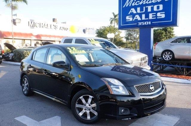 2012 NISSAN SENTRA 20 S 4DR SEDAN super black 99 point safety inspection automatic and