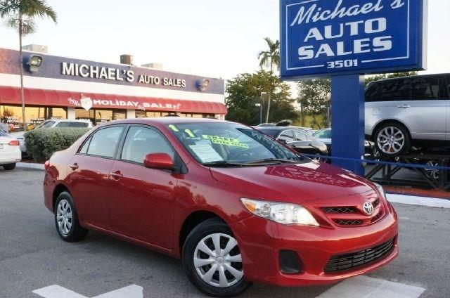 2011 TOYOTA COROLLA LE 4DR SEDAN 4A barcelona red metallic 99 point safety inspection autom