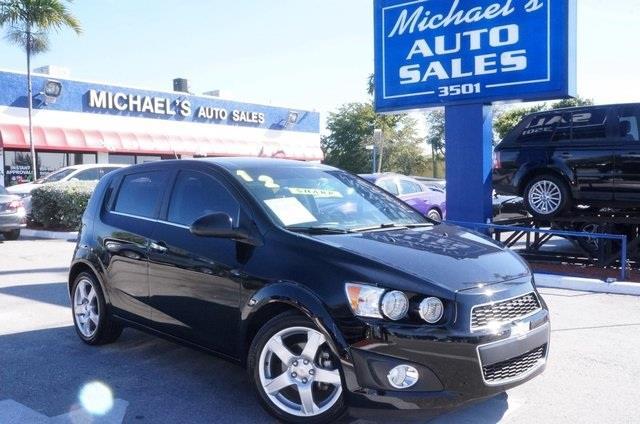 2012 CHEVROLET SONIC LTZ 4DR HATCHBACK W2LZ black the michaels auto sales edge dont bother loo
