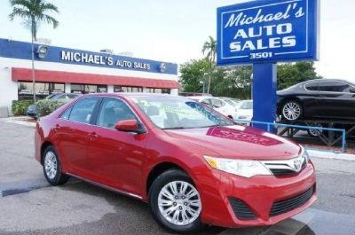 2012 TOYOTA CAMRY LE 4DR SEDAN barcelona red metallic clean carfax 99 point safety inspec