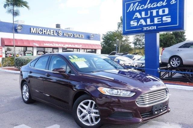 2013 FORD FUSION SE 4DR SEDAN bordeaux reserve clean carfax price reduced one owner