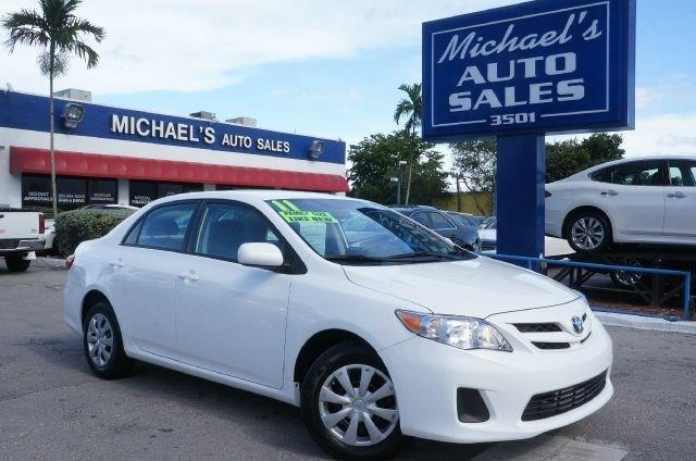 2011 TOYOTA COROLLA BASE 4DR SEDAN 4A super white 99 point safety inspection and automatic