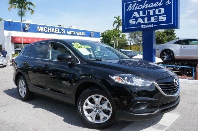 2013 MAZDA CX-9 TOURING 4DR SUV brilliant black clearcoat clean carfax 99 point safety in