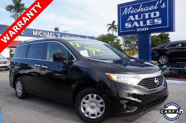 2012 NISSAN QUEST 35 S 4DR MINI VAN super black 99 point safety inspection clean carfax