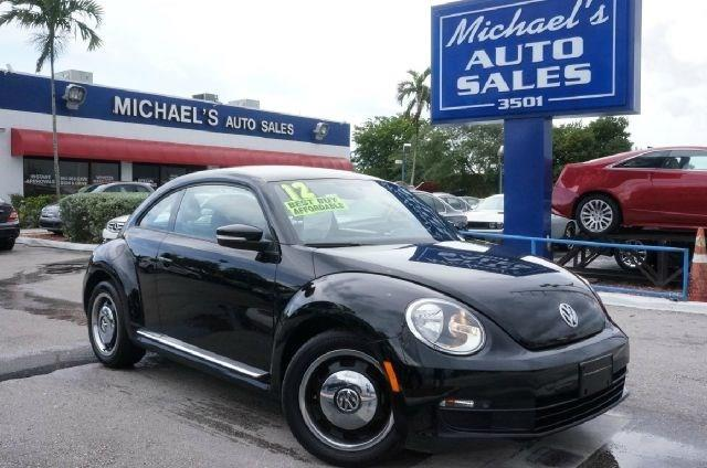 2012 VOLKSWAGEN BEETLE 25L black uni 99 point safety inspection automatic clean title