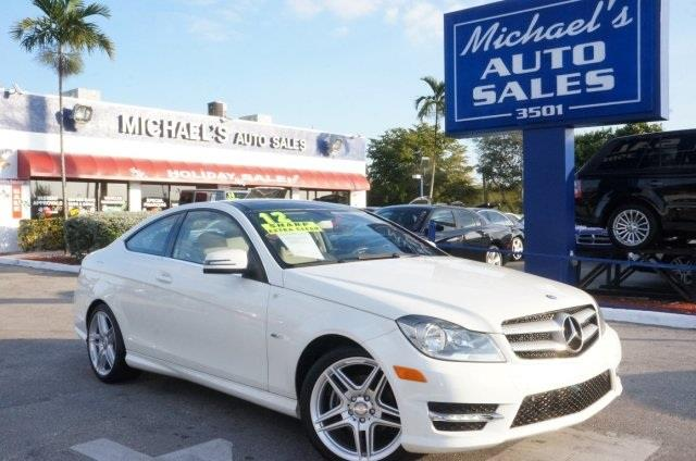 2012 MERCEDES-BENZ C-CLASS C250 2DR COUPE arctic white really struts its stuff seating fit for a