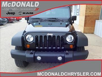 2012 Jeep Wrangler Unlimited for sale in Clare, MI