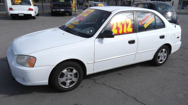 2002 HYUNDAI ACCENT GL white la sierra motors located in pomona prides itself on having great inve