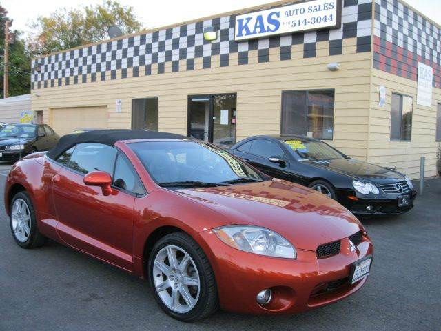 2007 mitsubishi eclipse spyder gt 2dr convertible 3 8l v6 5a in sacramento ca kas auto sales. Black Bedroom Furniture Sets. Home Design Ideas